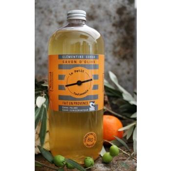 Savon liquide huile d'olive et clémentine corse bio - 1L