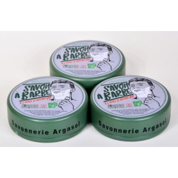Lot De 3 Savons A Barbe 140G