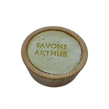 Savon à barbe et son bol en bois d'acacia - Savons Arthur