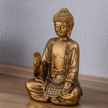 Statuette Décoration Feng Shui Bodhi Or
