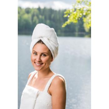 LUIN LIVING - Serviette pour cheveux SNOW
