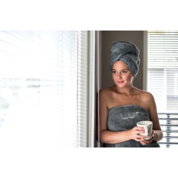 LUIN LIVING - Serviette pour cheveux GRANITE