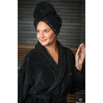 LUIN LIVING - Serviette pour cheveux BLACK
