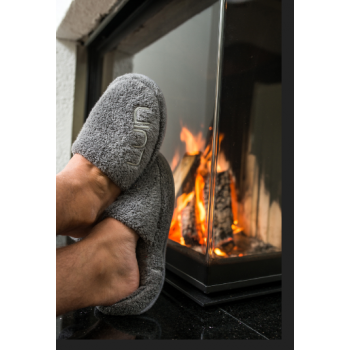 LUIN LIVING- Pantoufles, Cosy, L/XL (env. 41-44) GRANITE