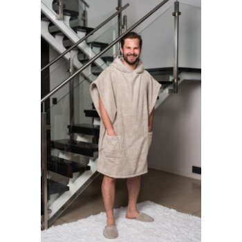 LUIN LIVING - Grand Poncho H 100 cm SAND
