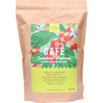 1kg - Café Sanchirio Pérou Grains Équitable & Bio de haute altitude