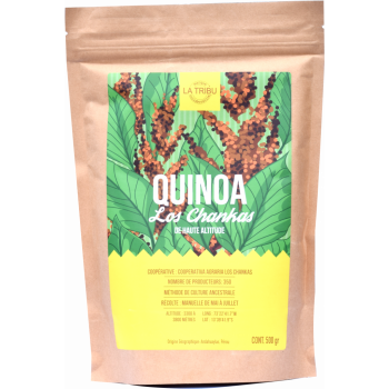 Quinoa Los Chankas Pérou 500g Équitable & Bio de haute altitude