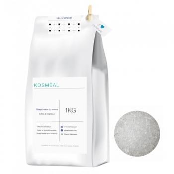 Sel d'Epsom - 1kg - Emballage Écologique En Papier Kraft Blanc