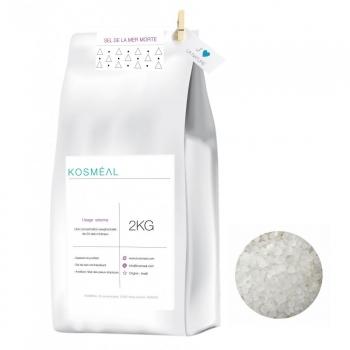 Sel De La Mer Morte D'Israël - 2kg - Emballage Écologique En Papier Kraft Blanc