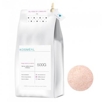 Sel rose de l'Himalaya - Sel fin - 500g - Emballage Écologique En Papier Kraft Blanc