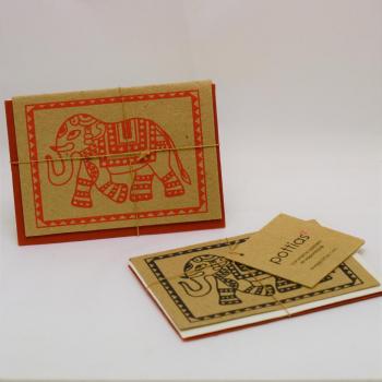 jeu de 2 cartes + enveloppe POPO