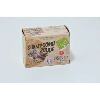 Shampoing solide à l'argile (rhassoul) et poudre de shikakaï