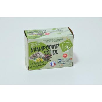 Shampoing solide à l'huile d'olive et poudre de shikakaï