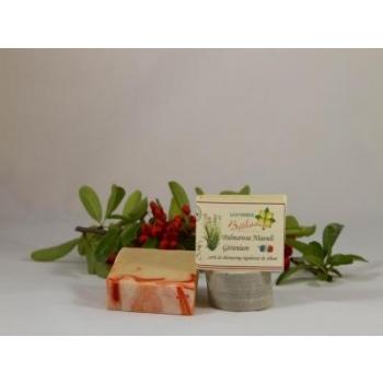 Shampoing solide ou carré de shampoing palmarosa-niaouli environ140 g