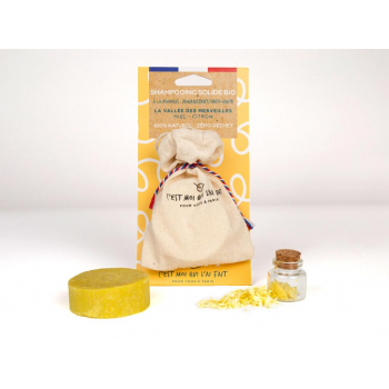 "Shampooing solide bio a la propolis  "" la vallee des merveilles"" miel - citron 65 gr"