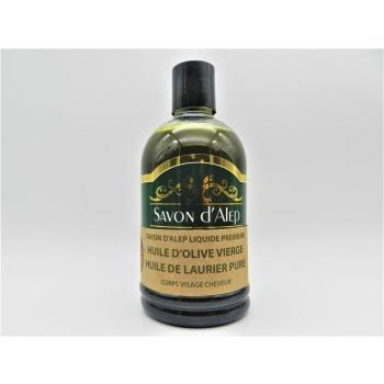 Savon d'Alep Liquide Premium à l'Huile d'Olive Vierge & à l'Huile de Laurier Pure (500ML)