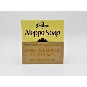 Savon d'Alep Traditionnel à l'Huile de Laurier Golden 25%