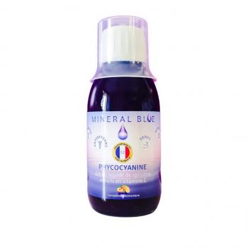 Phycocyanine en Sirop 12g/l - Extrait liquide de spiruline concentré enrichi en vitamine C - Pêche citron - 150ml