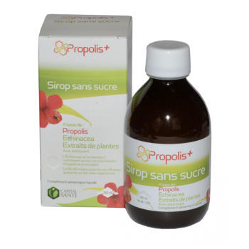 Sirop sans sucre à base de propolis