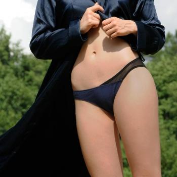 Culotte en coton bio bleu navy Olly – Taille M