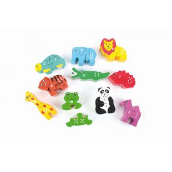"""Puzzle """"zoo"""" avec chiffres"""