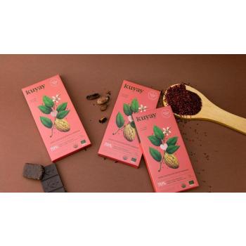 Chocolat noir Kuyay 70% au quinoa - pur origine Pérou