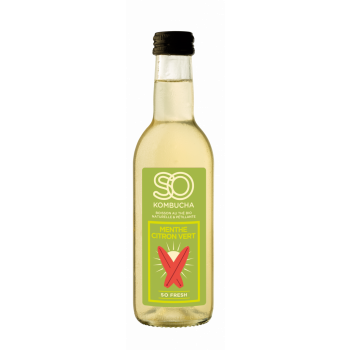 SO KOMBUCHA Menthe Citron Vert, 12 bt x 250 ml