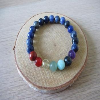 Bracelet en sodalite 7 chakras