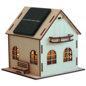 Maquette Villa solaire en bois