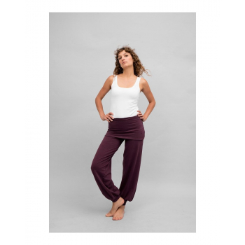 "Pantalon de yoga ""Sohang"" de ""Breathe of Fire"" prune"