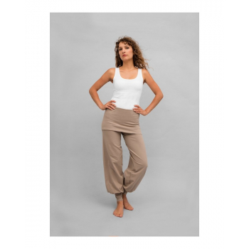 "Pantalon de yoga ""Sohang"" de ""Breathe of Fire"" taupe"