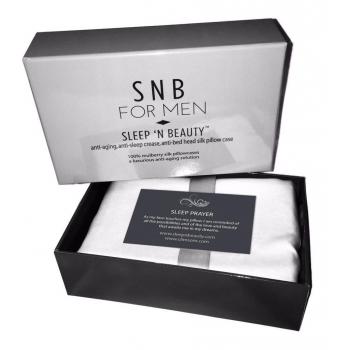 SnB for Men - Taie d'oreiller en soie 50x75cm