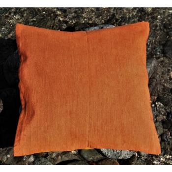 HDC soie orange dessus