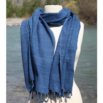 soie sauvage bleu