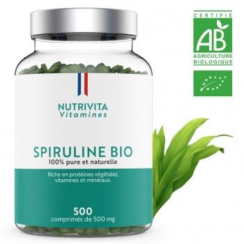 Spiruline Bio - 500 gélules de 500 mg