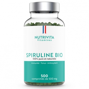 Spiruline Bio - 500 comprimés de 500 mg