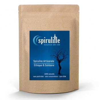 Spiruline artisanale et équitable - microgranules - sachet de 100 g