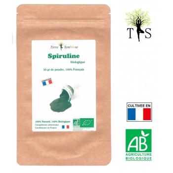 Spiruline Biologique Française - Poudre 50g - Fer Phytocyanine Beta carotène