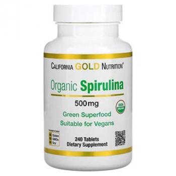Spiruline biologique,  Organic, 500 mg, 240 comprimés