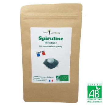 Spiruline Biologique Française - 120 comprimés 500 mg - Fer - Phytocyanine