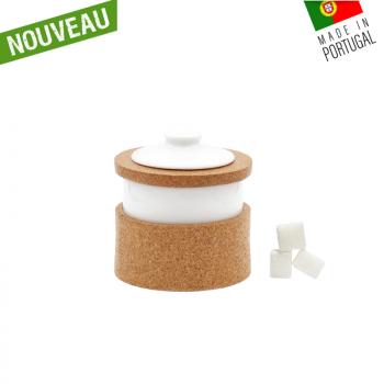 Sucrier en liège & porcelaine Vista Alegre - Boite à sucre