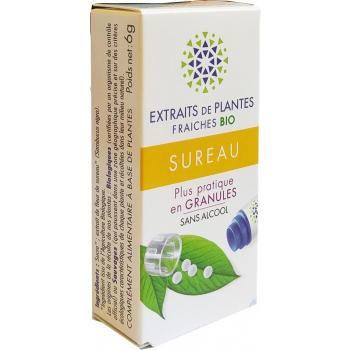 SUREAU Teinture Mère  d'extaits de plantes fraiches granules  Sans Alcool 130 granulesAide à purifier l'organisme aux changements de saison