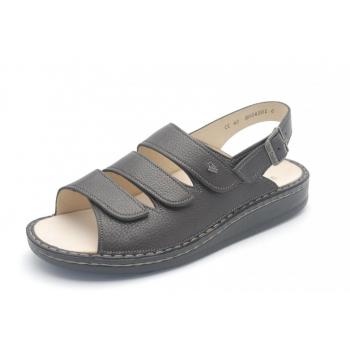 FINN COMFORT Sandale Classic Marron talon 12 mm chaussant large