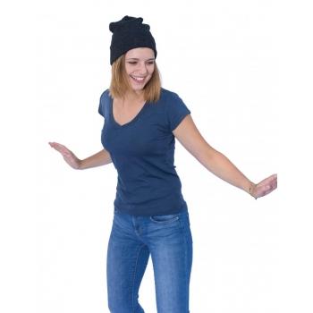T-shirt femme manches courtes noir