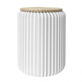 Tabouret pliable 50 cm blanc