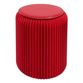 Tabouret pliable 42 cm rouge