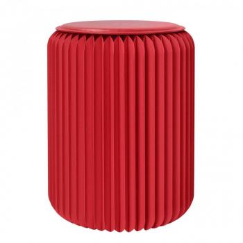 Tabouret pliable 50 cm rouge