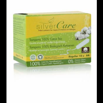 TAMPONS 100% coton bio Avec applicateur en carton REGULIER   boîte de 16 -