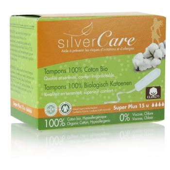 TAMPONS 100% coton bio Avec applicateur en carton SUPER   boîte de 14 -