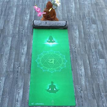 Tapis yoga latex & Suede Anahata + Sac